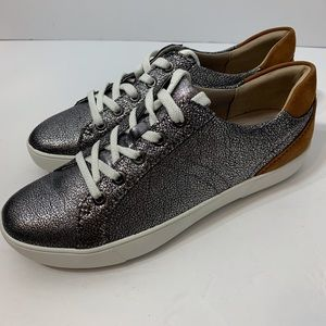 New Naturalizer Morrison Silver Crackle Sneakers